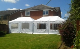 two 6x3 marquees joined together